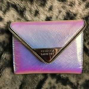 Rebecca Minkoff holographic rainbow small wallet